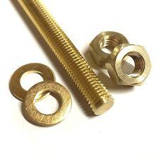 M8 Long Brass Threaded Bar - 8mm Allthread Rod Studding + Nuts + Washers