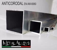 Tubo Quadrato Quadro Alluminio 6060 da 35 40 45 50 mm IN DIVERSE LUNGHEZZE E SP.