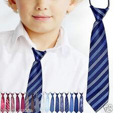 CRAVATTA BAMBINO blu righe regimental cravattino 2/16 anni TANTI COLORI D0481