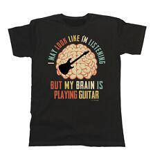 Mens/Ladies Unisex T-Shirt My Brain Is Playing GUITAR Electric Music Birthday