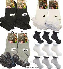 Girls/Kids/Ladies Cotton Lace top Summer Trainer anklet / School ankle Socks