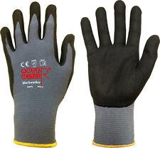 Nylon Handschuhe SUPERWORKER® blackworker Nitril PU Microbeschichtung