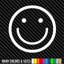 SMILE Smiley Face vinyl decal car window laptop sticker - smiley happy face
