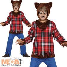 Scottish Wolf Boys Fancy Dress Warewolf Animal Kids Halloween Costume Outfit