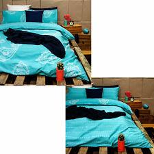 Ardor PAIZE Turquoise Reversible Quilt Duvet Cover Set SINGLE DOUBLE QUEEN KING