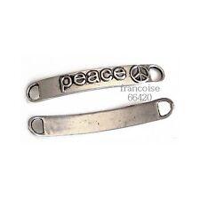 Connecteurs entre-deux _ PEACE 38x6mm _ Perles apprêts création bijoux _ A415