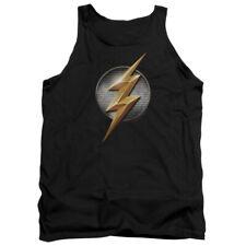 Justice League Movie Flash Logo DC Comics Adult Tank Top