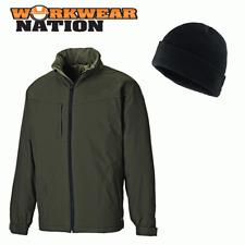 Dickies hartville Impermeable Impermeable chaqueta de abrigo Verde Musgo libre Beanie