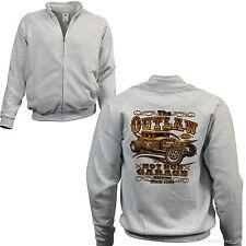 * Zip Jacke Sweatshirt Hot Rod Oldtimer Automotiv Rockabilly Kustom Rat *1247