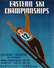 Eastern Ski Skiing Gilford Laconia New Hampshire Sport Vint Poster Repo FREE SH
