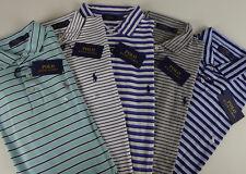 Polo Ralph Lauren SS Soft Touch Pima Cotton Striped Polo Shirt w Pony NWT $85-98