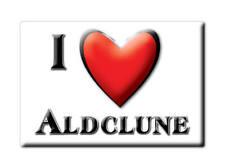 SOUVENIR UK - SCOTLAND FRIDGE MAGNET I LOVE ALDCLUNE (PERTH AND KINROSS)