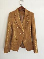 2020 Damen Luxus Gelbgolden Enganliegend Blazer Mantel