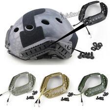 WoSporT Tactical Fast Helmet Guide Rail Mount Flashlight ARC Guideway