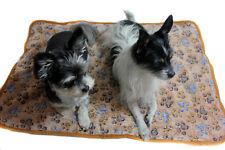 Decke Haustierdecke Hund Tierdecke Liegedecke Hundedecke braun Pfötchen Pfote