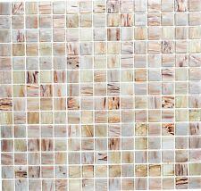 Mosaik Glas Goldensilk hellbeige Wand Sauna Boden Küche | 54-0104_f | 10 Matten
