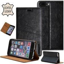 Echt Leder Cover für Apple iPhone/ Samsung Galaxy Etui Case Tasche Schutz Hülle