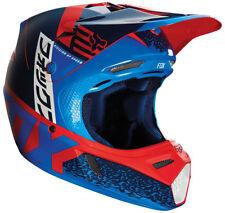 Joven Fox V3 divisiones Motocross Mx Casco - rojo / Azul Niños Cuatrimoto BMX