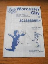 24/01/1983 Conference League Cup Semi-Final: Worcester City v Scarborough  (Crea