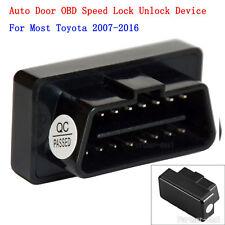 CANBUS OBD Plug Auto Door Speed Lock Unlock Device OBD2 For Toyota 2007-2016