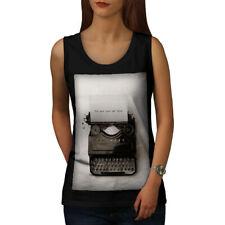Vintage Typewriter Retro Women Tank Top NEW | Wellcoda