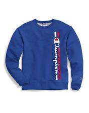 2 Champion Men's Powerblend® Fleece Crews, Vertical Logo GF88H Y07973
