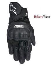 Alpinestars SP-5 SP5 negro cuero RACING Y Moto Deporte Corto Guantes