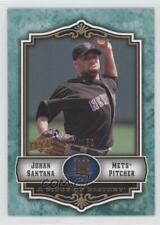 2009 Upper Deck A Piece of History Green #59 Johan Santana New York Mets Card