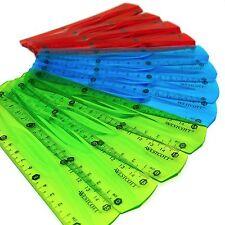 Westcott 15.2cm/15cm - Translúcido flexible Regla - SURTIDO PACKS DE 3 colours