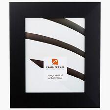 "Craig Frames Bauhaus, 2"" Modern Mystic Black Satin Picture Frame"