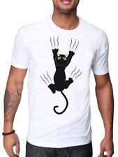 BLACK CAT SCRATCH DESIGN T SHIRT CARTOON FUNNY ANIMALS T SHIRT SAME DAY DISPATCH