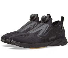 Reebok Pump Plus Engine BS8807 Black Sneakers Slip On LE NEW Authentic