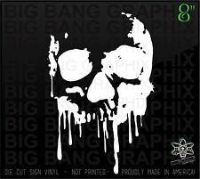 "Bloody Drip Skull Vinyl Decal Sticker Diesel Rock Hearse Derby Girl Truck Car 8"""