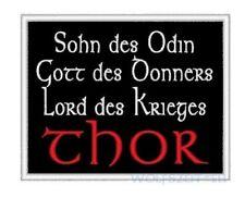 Aufnäher 12x10cm Sohn des Odins Gott des Donners schwarz o bordeux Krieg Thor