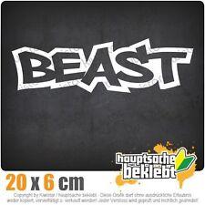 Beast csf0288 20 x 6 cm JDM Sticker Adesivo