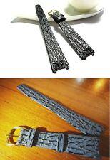 Genuine Leather watch Band Strap bracelet (fits) Christian DIOR CD Black Moon