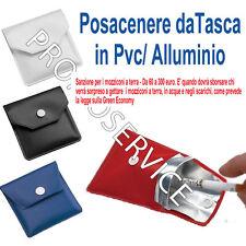 Mini posacenere tascabile porta cenere  IN PVC/ALLUMINIO