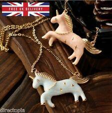 Unicorn Necklace Candy Colour Gold Enamel Kawaii Horse Pony Vintage Fashion
