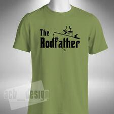 Rodfather T-shirt Fishing Carp Pike Angler Fly Night Fisherman Funny Baiter