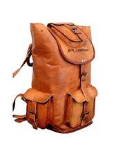Men's Real Handmade Leather Messenger Shoulder Bag Backpack Laptop Rucksack
