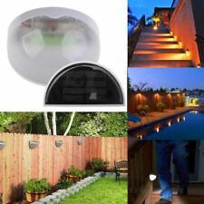 Solar Power LED Sensor Wall Light Outdoor Garden Fence Lamp IP55