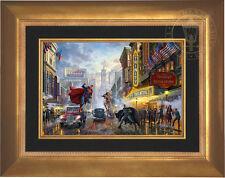 Thomas Kinkade DC BATMAN, SUPERMAN AND WONDER WOMAN 12 x 18 LE E/E Canvas Framed