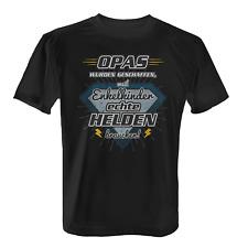 Opas wurden geschaffen Herren T-Shirt Fun Shirt Spruch Opa Held Enkelkind Lustig