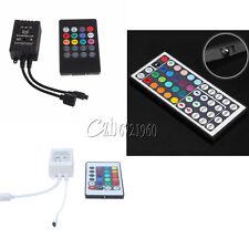 DC 12V 20/24/44Key RGB LED Light Strip IR Sensor Controller Sound Music Remote