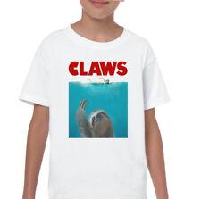 griffes enfants drôle MÂCHOIRES paresseux Parodie T-shirt film cinéma