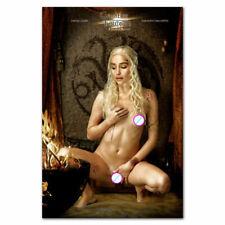 Z-195 New Emilia Clarke Game of Thrones Actress Sexy Girl Star Poster Art Decor