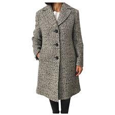 EM by ELENA MIRÒ cappotto donna grigio/nero/panna 45% lana 42% acrilica