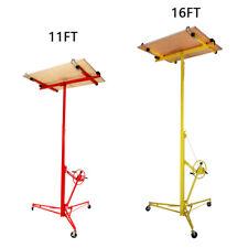 16FT/11FT Lifter Drywall Tool Hoist Board Caster Foldable Plasterboard Lift