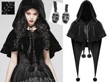 Cape veste velours capuche gothique lolita baroque volant pompon elfe PunkRave N