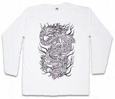 CHINESE TATTOO DRAGON III LONG SLEEVE T-SHIRT Asia Drache Oldschool Rockabilly